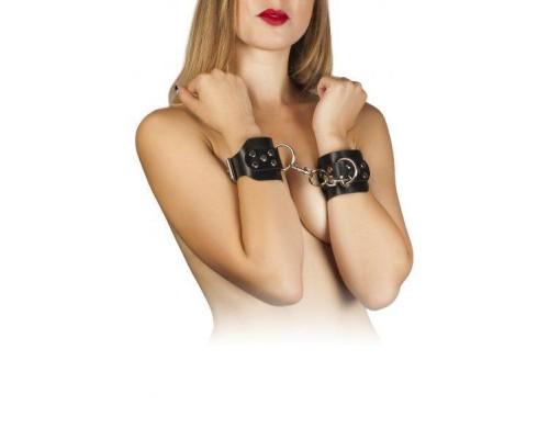 sLash - Наручники Leather Hand Cuffs, BLACK (280173)