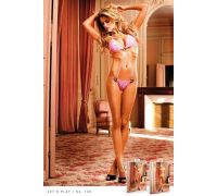 BACI - Боди Pink Lace Teddy With Black Heart Rings (B100-PINK-OS)