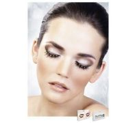 Baci Eyelashes - Реснички Black-Yellow Rhinestone Eyelashes (B503)