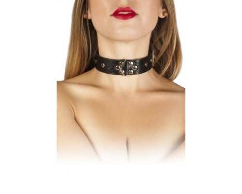 sLash - Ошейник Leather Restraints Collar, BLACK (280163)