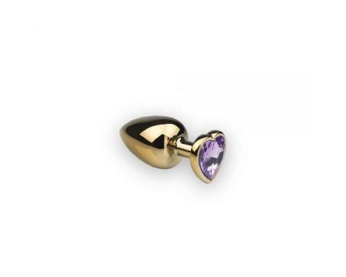 sLash - Анальная пробка,Gold Heart Tourmalin, S (281283)