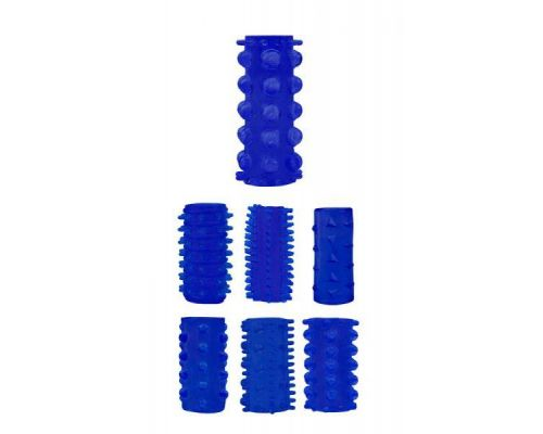 Chisa - Набор насадок Penis Sleeve Kits-Blue (291214)
