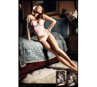 BACI - Бюстье Pink Bustier w Grey Lace Appliqus, M/L (B1138-PINK-M/L)