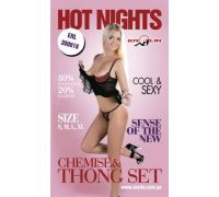 Erolin - Пеньюар и трусики Hot Nights Black-Red, S (ERL300018_black+red S)
