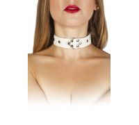 sLash - Ошейник Leather Restraints Collar, WHITE (280165)