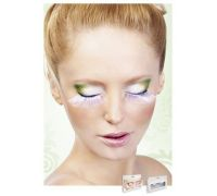 Baci Eyelashes - Реснички White Glitter Eyelashes (B521)