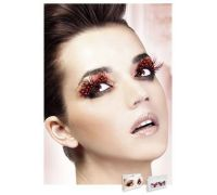 Baci Eyelashes - Реснички Dark Red Feather Eyelashes (B621)