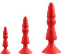 Dream Toys - MENZSTUFF 3-PIECE ANAL CONE SET RED (DT21284)