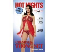 Erolin - Пеньюар и трусики Hot Nights Red, M (ERL300001_red M)
