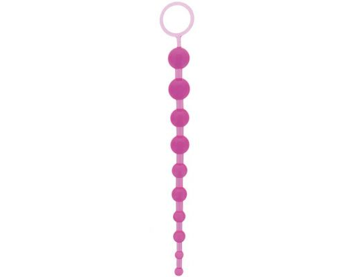 "NMC - Анальная цепочка Oriental Jelly Butt Beads 10.5"", PURPLE (T110502)"