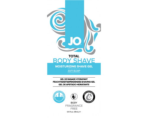 Пробник геля для бритья JO Total Body Anti-Bump Shaving Gel 15 мл