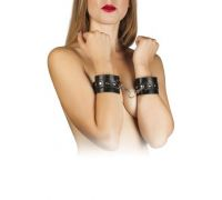 sLash - Наручники Leather Restraints Hand Cuffs, BLACK (280157)