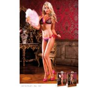 BACI - Комплект Black-Hot Pink Bikini Set With Lacing (B107-BLACK HOTPINK-OS)
