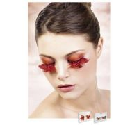 Baci Eyelashes - Реснички Orange-Red Feather Eyelashes (B617)