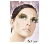 Baci Eyelashes - Реснички Brown-Green Feather Eyelashes (B643)