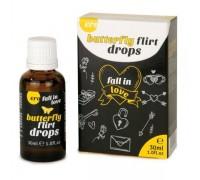 HOT - Возбуждающие капли для двоих ERO Butterfly Flirt Drops, 30 мл (H77111)