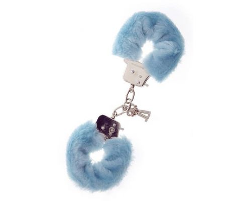 Dream Toys - Наручники Metal Handcuff with Plush, BLUE (T160027)