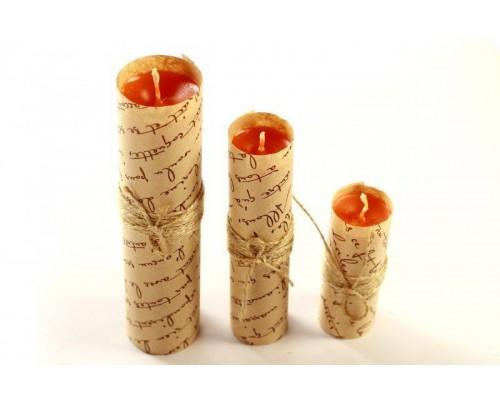 sLash - Набор свечей из 3 размеров цвет оранжевый (280326)