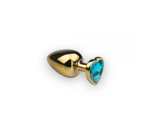 sLash - Анальная пробка,Gold Heart Topaz, M (281285)