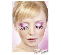 Baci Eyelashes - Реснички Pink-Black Glitter Eyelashes (B519)