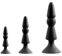 Dream Toys - MENZSTUFF 3-PIECE ANAL CONE SET BLACK (DT21285)