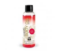 HOT - Съедобное масло для тела HOT-SHIATSU с ароматом Клубники, 100 мл (H66016)