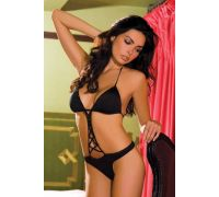 Rene Rofe Lingerie - Боди Microfiber Teddy with Studs Black M/L (RR75301181ML)