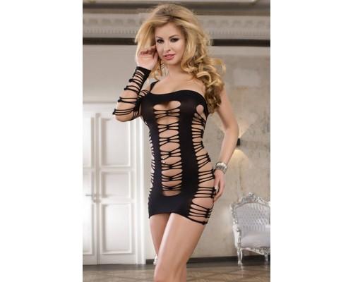 Асимметричное платье-сетка - Dolce Piccante