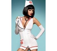Эротический костюм Obsessive Emergency dress со стетоскопом
