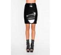 Черная лакированная юбка Avanza, S/M