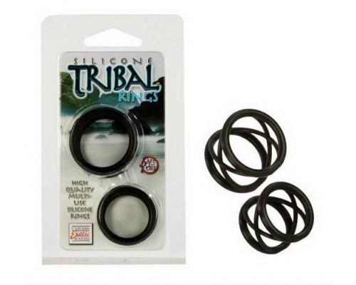 Два эрекционных кольца Silicone Tribal Rings