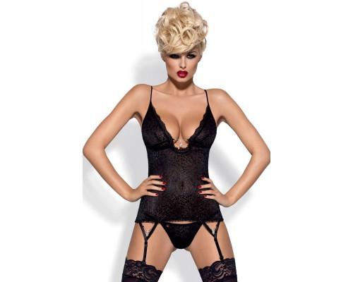 Сексуальный комплект Obsessive Diamond corset