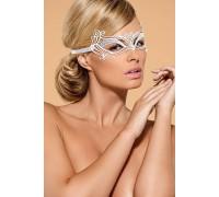 Металлическая маска для глаз Obsessive A703, белая