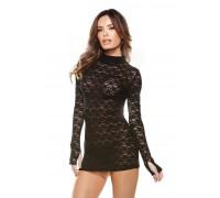 Маленькое кружевное черное платье Fantasy Lingerie, Os
