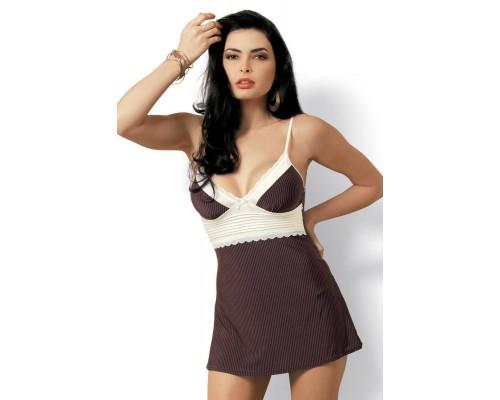 Сексуальный комплект Obsessive Choco chemise
