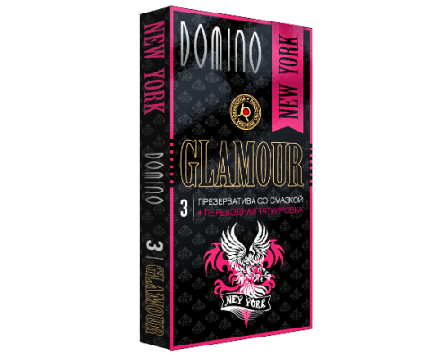 Презервативы Domino «Glamoor New York» + Тату