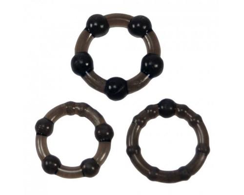 Набор из 3 эрекционных колец Easy Squeeze Cock Ring Set