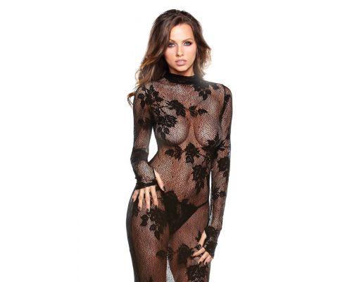 Ажурное платье с длинным рукавом и стрингами Fantasy Lingerie, Os