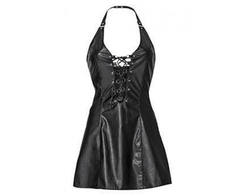 Короткое кожаное платье Avanza