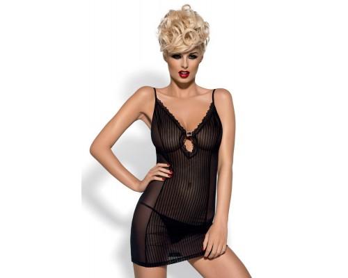 Эротический комплект Obsessive Citygirl chemise