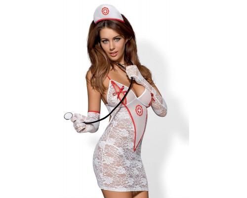 Эротический костюм Obsessive Medica dress