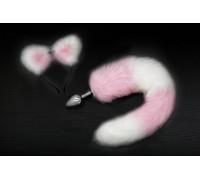 Пикантные Штучки - анальная пробка с хвостиком (ушки в комплекте), 7х2.8 см