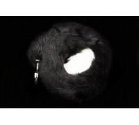 Пикантные Штучки - анальная пробка с хвостиком - 6Х2,5 см (черный)
