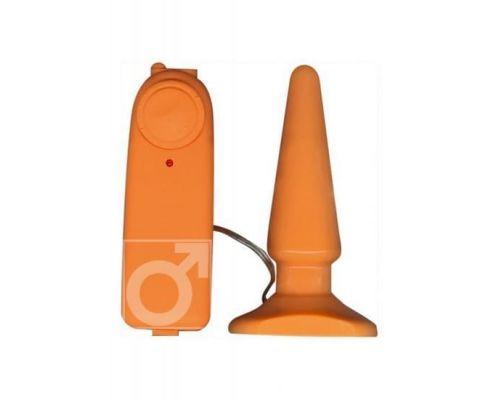 Анальный вибратор Funky Buttplug, 8,5Х3 см (оранжевый)