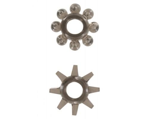 Эрекционные кольца Power Stretchy, 2 шт (черный)