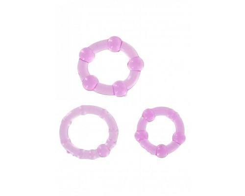 Три эрекционных кольца Stay Hard (сиреневые)