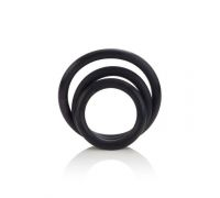 CalExotics Rubber Ring - 3 Piece Set - набор эрекционных колец (черный)