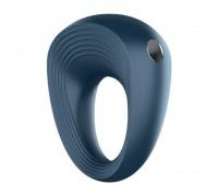 Satisfyer Vibro-Ring 2 Silicone - эрекционное кольцо с вибрацией, 5.5 см (синий)