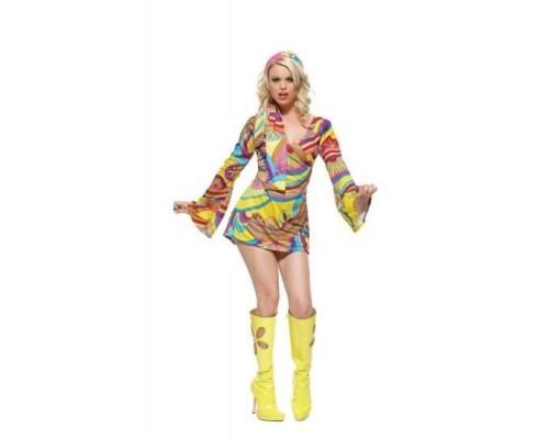 Leg Avenue LEG8630M/L - Платье Hippe Print M/L, (желтый)