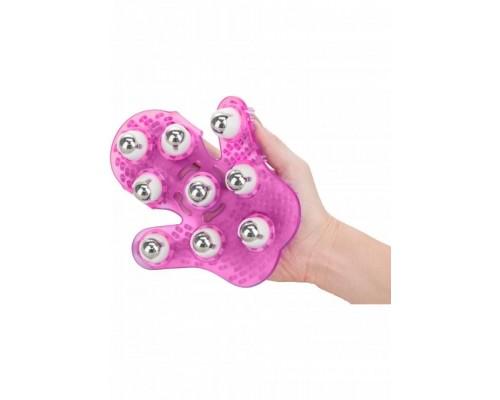 Simple & True Roller Balls Massager перчатка для массажа (розовый)
